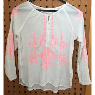 エイチアンドエム(H&M)の美品 刺繍 薄手 トップス 130cm(Tシャツ/カットソー)
