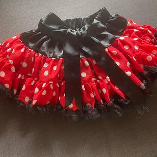 Disney - ミニーちゃん ふんわりレーススカート 90