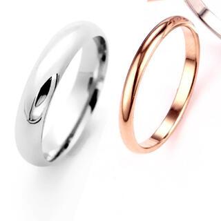 シンプルペアリング ステンレスリング ステンレス指輪 ピンキーリング(リング(指輪))
