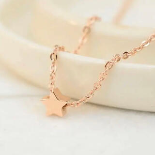 スターネックレス ステンレスネックレス ステンレスチェーン 星ネックレス(ネックレス)