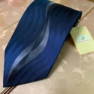 【新品⭐️タグ付き】ネクタイ スーツ 柄ネクタイ 青 ネイビー ストライプ