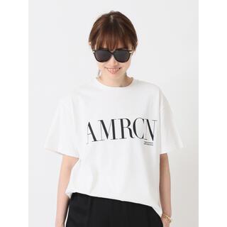 DEUXIEME CLASSE - 【AMERICANA/アメリカーナ】 AMRCN Tシャツ  ホワイト