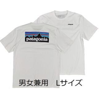 patagonia - パタゴニアTシャツ 白 L ベストセラー アウトドア サーフ バイク 半袖