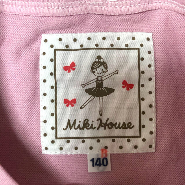 mikihouse(ミキハウス)の新品タグ付き ミキハウス リーナちゃん 長袖Tシャツ 140 キッズ/ベビー/マタニティのキッズ服女の子用(90cm~)(Tシャツ/カットソー)の商品写真