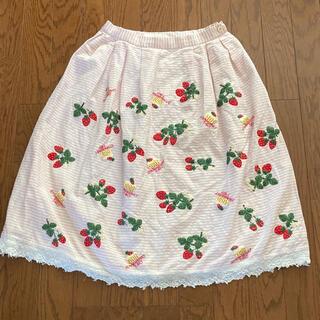 ジェーンマープル(JaneMarple)のJane Marple イチゴスカート(ひざ丈スカート)