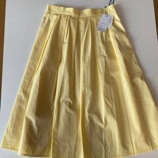 オペークドットクリップ(OPAQUE.CLIP)のOPAQUE.CLIP イエロー スカート 新品タグ付き(ロングスカート)