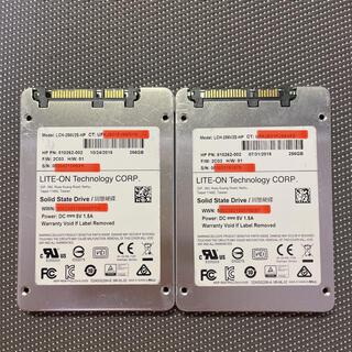 LITEON SSD 2.5インチSATA 256GB 二枚セット(PCパーツ)