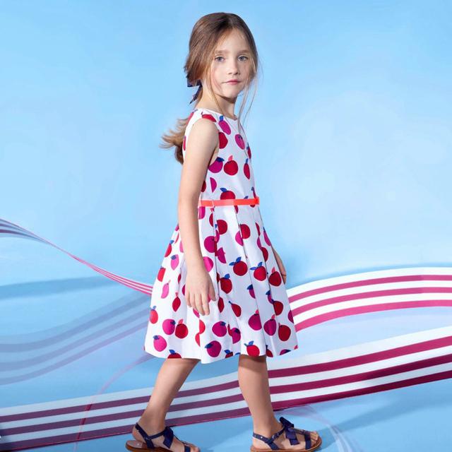 Jacadi(ジャカディ)の新品 jacadi ジャカディ ワンピース りんご 4A ベビー 2021 キッズ/ベビー/マタニティのキッズ服女の子用(90cm~)(ワンピース)の商品写真