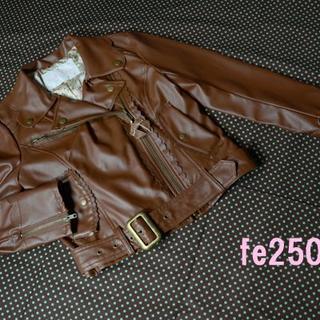 リズリサ(LIZ LISA)のLIZLISA/ライダースジャケット/チョコレートカラー/未使用品/茶色(ライダースジャケット)