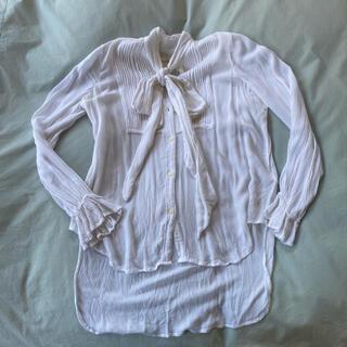 デニムアンドサプライラルフローレン(Denim & Supply Ralph Lauren)のRalph Lauren Denim Supply ホワイトシャツ フロントタイ(シャツ/ブラウス(長袖/七分))