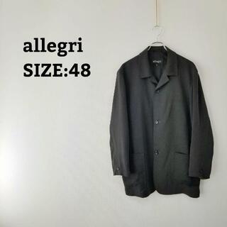 アレグリ(allegri)のアレグリ allegri ジャケット 48 XL ブラック 黒 メンズ 春 秋(テーラードジャケット)