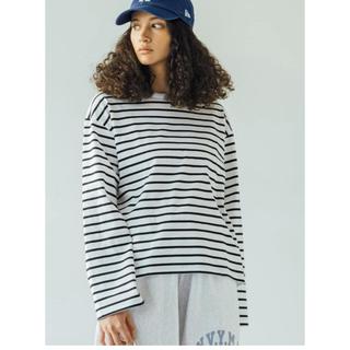 ORCIVAL - ORCIVAL マーセライズコットン長袖Tシャツ STRIPE WOMEN