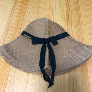ユナイテッドアローズ(UNITED ARROWS)のアシーナニューヨーク  リボン 帽子 シホ siho (麦わら帽子/ストローハット)