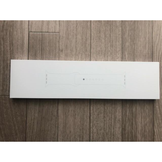 Apple Watch(アップルウォッチ)の純正アップルウォッチ ホワイトバンド メンズの時計(ラバーベルト)の商品写真