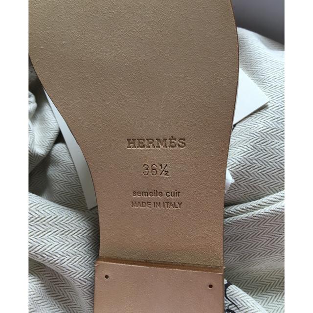 Hermes(エルメス)の《新品》エルメス オラン 36.5  白 ブラン  レディースの靴/シューズ(サンダル)の商品写真