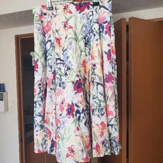 Apuweiser-riche - フレア 花柄 スカート