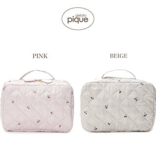 gelato pique - gelato pique キルティングチェリーおむつポーチ ピンク