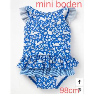 Boden - 【完売品 新品】ミニボーデン うさぎフリル水着98cm