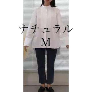 UNIQLO - スーピマコットンタックシャツ Mサイズ ナチュラル +J プラスJ