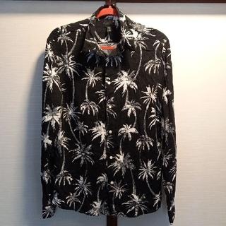 H&M - お値引きH&M長袖レーヨンアロハシャツブラックヤシM新品未使用