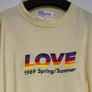 UNUSED - DAIRIKU 21ss LOVE Vintage Long Sleeve Te