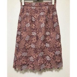 PROPORTION BODY DRESSING - プロポーションボディドレッシング フラワーレースタイトスカート モカピンク系 3