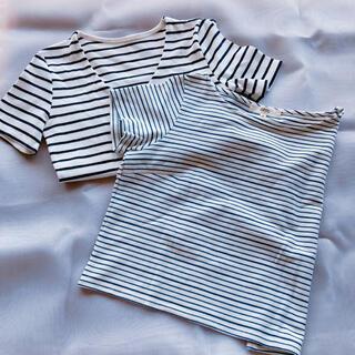オゾック(OZOC)のボーダートップスセット(Tシャツ(半袖/袖なし))