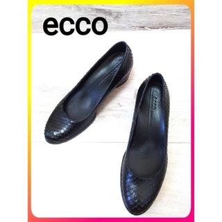 【ecco レザー パンプス】エコー 靴 レディース