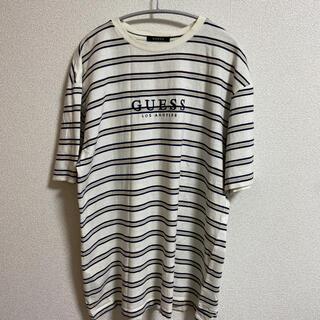 GUESS - GUESS ボーダークルーネックTシャツ