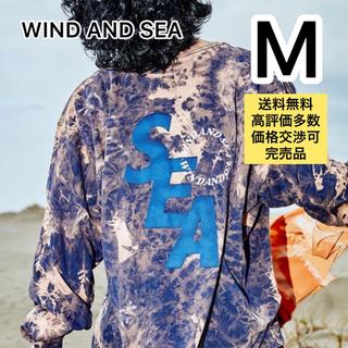 Supreme - WIND AND SEA BLEACHED L/S T-SHIRT Mサイズ 紺