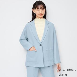 ジーユー(GU)の☆送料無料☆GU オーバーサイズシャツジャケット 長袖 ブルー L(その他)