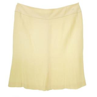 シャネル(CHANEL)のシャネル CHANEL 04P スカート シルク アイボリー 46 ECR3(ひざ丈スカート)