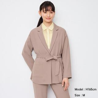 ジーユー(GU)の☆送料無料☆GU オーバーサイズシャツジャケット 長袖 ブラウン L(その他)