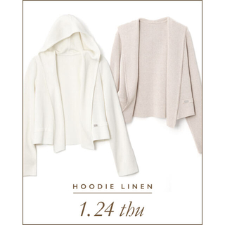 FOXEY - フォクシー リネンパーカー HOODIE LINEN  ナチュラル