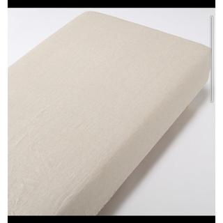 MUJI (無印良品) - 無印良品 ダブルベッド ボックスシーツ(麻100%)