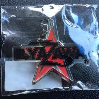 ヤザワコーポレーション(Yazawa)の矢沢永吉 E.YAZAWA アクリルメタルキーホルダー ロゴ 星 ブラック(ミュージシャン)