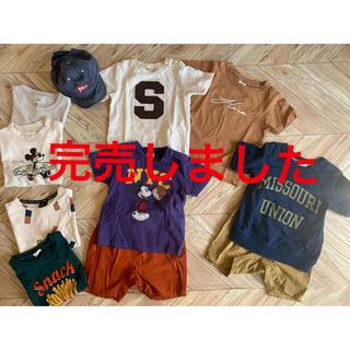 petit main - 80-100cm ブランド半袖Tシャツ8点&帽子セット