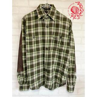 レッドムーン(REDMOON)のRED MOON レッドムーン レザー チェックシャツ 長袖シャツ(シャツ)
