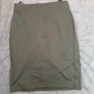 ANAYI - 【最終価格】ANAYI  ジャージタイトスカート カーキ 超美品 36 デプレ