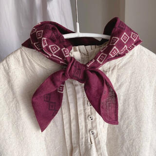 サマンサモスモス(SM2)のサマンサモスモス 幾何学スカーフ ボルドー(バンダナ/スカーフ)