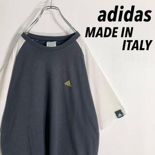 adidas - 【イタリア製】アディダス《adidas》 ワンポイント刺繍ロゴ ラグランTシャツ