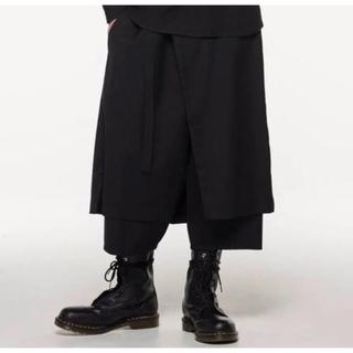 Yohji Yamamoto - 【未使用】19-20AW ヨウジオム 刺繍ロゴ ラップパンツ yohji Y-3