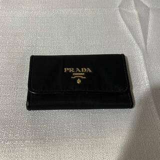 PRADA - 本物PRADA プラダ キーケース本革レザー黒ブラックレディースメンズ6連