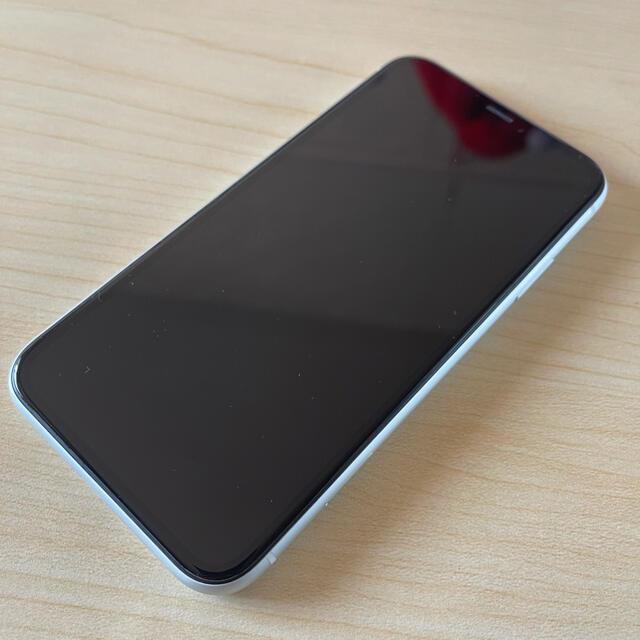 Apple(アップル)の【86%】iPhone XR White 128 GB SIMフリー 本体 スマホ/家電/カメラのスマートフォン/携帯電話(スマートフォン本体)の商品写真