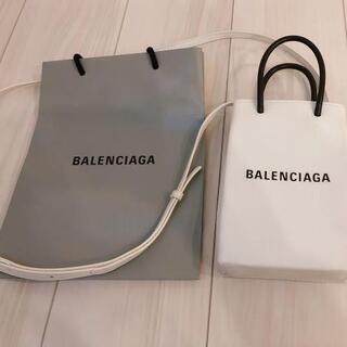 Balenciaga - バレンシアガ ショッピング フォンホルダー バッグ ホワイト