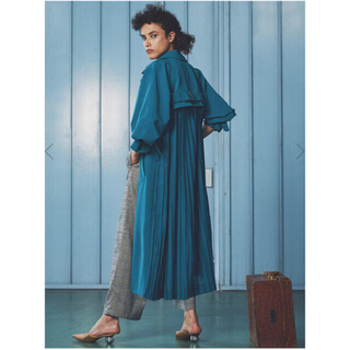 Ameri VINTAGE - AMERI SEE THROUGH BACK PLEATS TRENCH