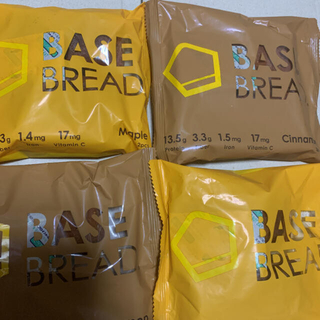 ベースフード ベースブレッド BASE BREAD シナモン、メープル計4袋