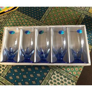 トウヨウササキガラス(東洋佐々木ガラス)のレトロ 佐々木硝子 グラス5客セット 新品未使用(グラス/カップ)