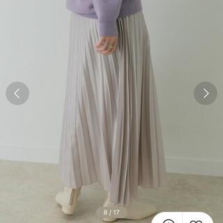 ケービーエフプラス(KBF+)のkbf+ メタリックプリーツスカート(ロングスカート)