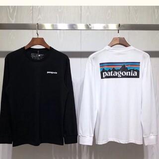 patagonia - 新品patagonia パタゴニア長袖ロンT P-6LOGOブラック+ホワイトM